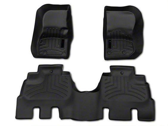 Weathertech wrangler black fitted front and rear floor liner kit 44573-1-2 (14-16 Wrangler JK 4 Door) - Free Shipping