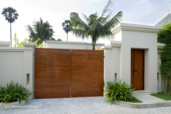 Cercos para patio ideas para cercos muros dise o de for Patios exteriores de casas