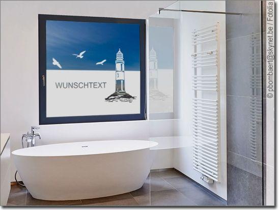 Fensterfolie Und Sichtschutzfolie Fur Bad Massanfertigung In 2020 Sichtschutzfolie Fensterfolie Leuchtturm