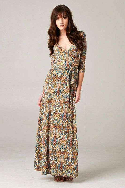 Love this cut and print.  Sedona Dress on Emma Stine Limited