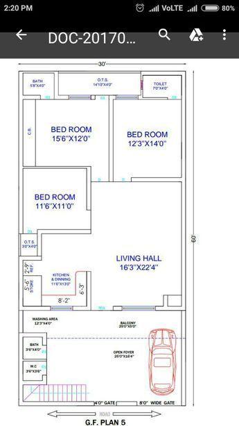 8 Marla 2bhk House Plan House Map Simple House Plans