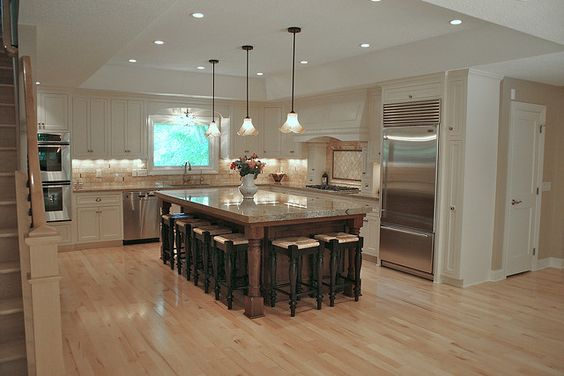 Love The Island Seats Ten Kitchens Eating Areas Pinterest The O 39 Jays Stairs And Open