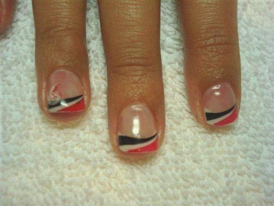 Black/Red/White Stripes