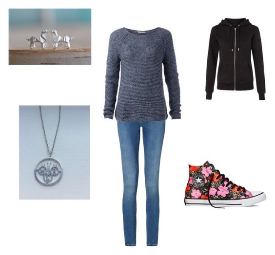 """Untitled #240"" by timefornews ❤ liked on Polyvore featuring Calvin Klein, Tommy Hilfiger, New Look and Converse"