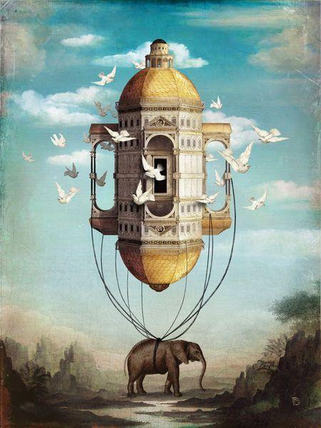 'Imaginary Traveler' von Christian  Schloe bei artflakes.com als Poster oder Kunstdruck $20.79
