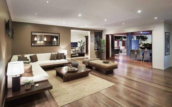 Decoracion Para Salas Amplias Decoracion De Salas Grandes Y Modernas Decoracion De Salas Modernas Para Espaci Modern Home Interior Design House Interior Home