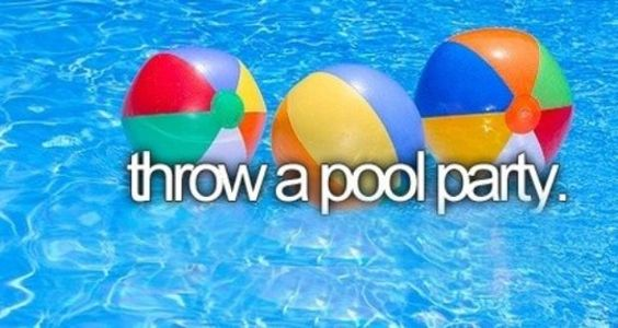 Throw a pool party