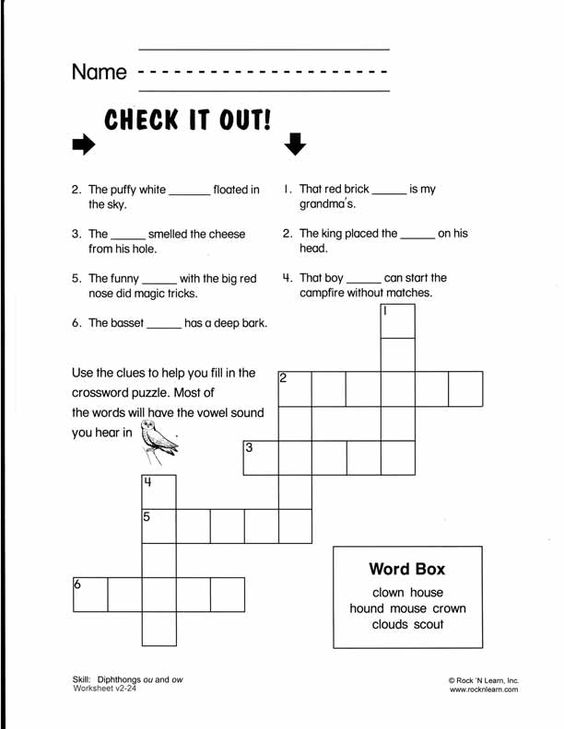 Printables Teaching A Child To Read Worksheets ou ow crossword i am a teacher pinterest phonics teach your child to read today using our step by proven method for teaching young children learn more about simple progr
