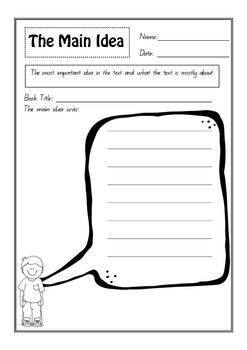 These 6 guided reading comprehension worksheets/graphic organisers ...