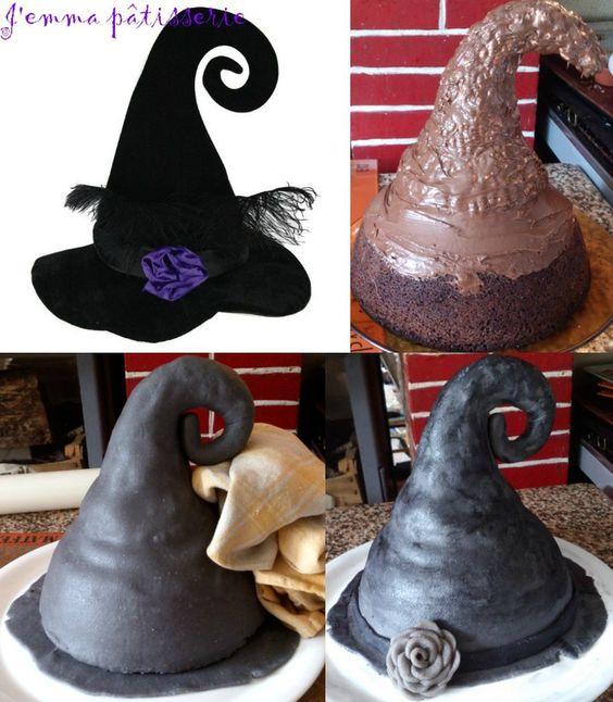 gâteau chapeau de sorcière