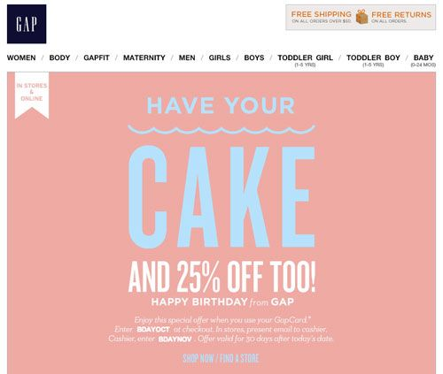 Subject Line: Last chance: get your birthday treat! Preheader: Hurry, you still have one week left to redeem your birthday offer!