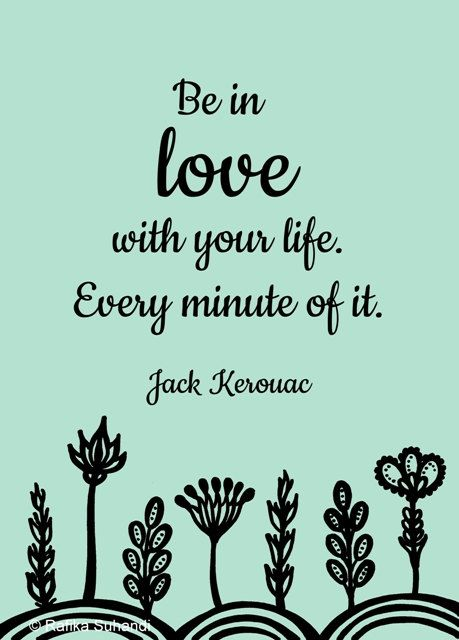 Be in love with your life - Inspirational word art - 5x7 print. via Etsy.: