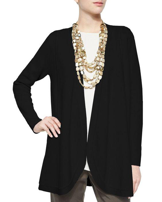 Silk Organic Cotton Interlock Cardigan