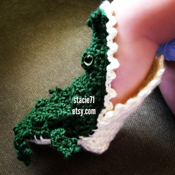 Crochet Shark Slippers Free Pattern For Adults : Crafts, Children and Alligators on Pinterest
