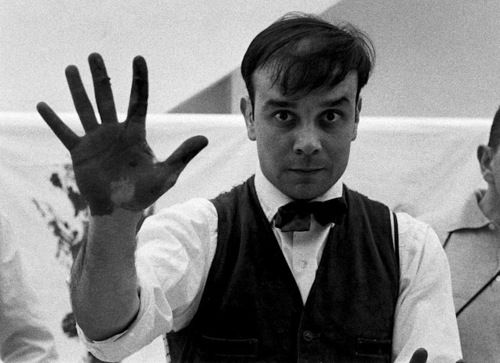 Yves Klein, 1961.  Photo by Charles Paul Wilp