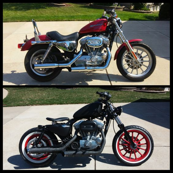 bloody mary rat rod bobber before after 2004 harley davidson sportster 883 see the build. Black Bedroom Furniture Sets. Home Design Ideas
