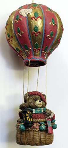 sterling large papier mache bear in hot air balloon. Black Bedroom Furniture Sets. Home Design Ideas