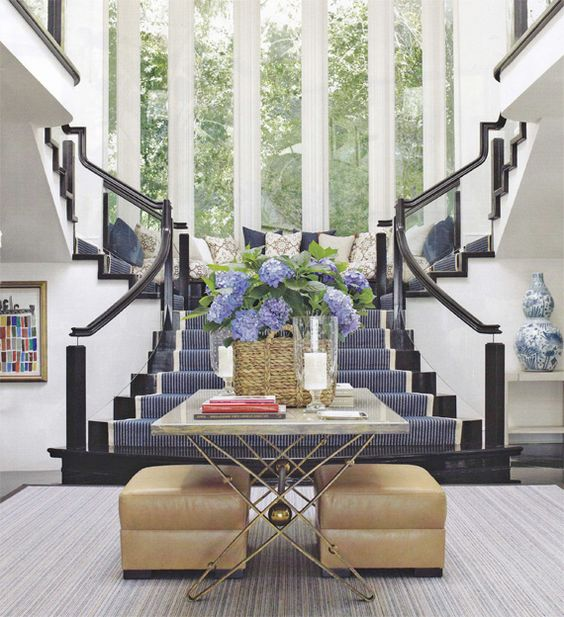 What a grand entrance: Interior Design, Stair Case, Grand Staircase, Blue Room, Dream House, Dream Home, House Idea, Entryway