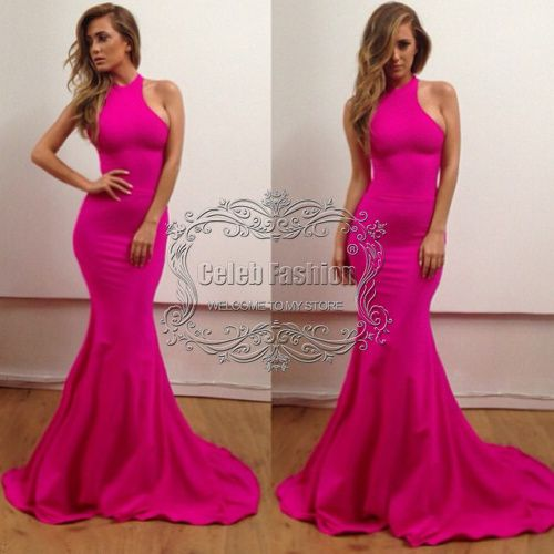 2014 Vestido De Fiesta High Neck Sheath Long Mermaid Dress Hot ...