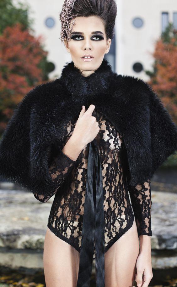 Nude maillot by Debora Velasquez fashion designer