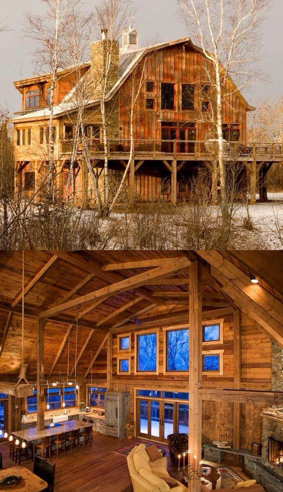 Rustic Wood Countryhomedecoratingfarmhouserusticwood Barn House Plans Barn Style House Log Homes