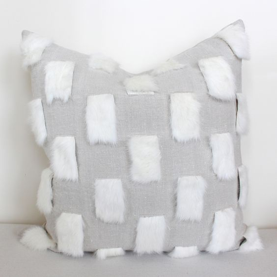 Rabbit Check Pillow – www.summerhousestyle.com