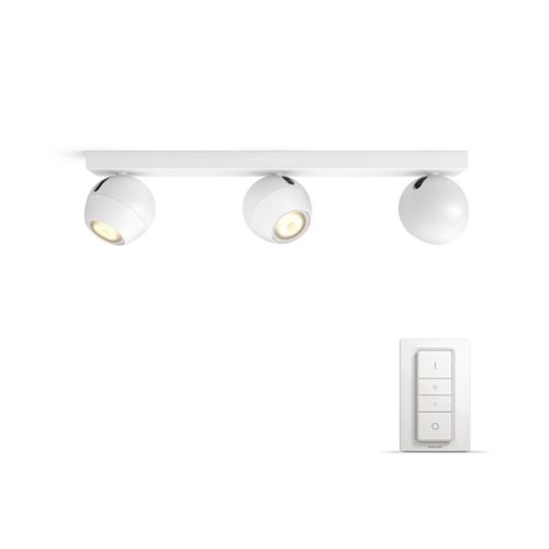 Spot Philips Hue Triplu Aplicat Buckram Alb Bec Led Cu Intrerupator Dimabil Hue Philips Led Ceiling Lights