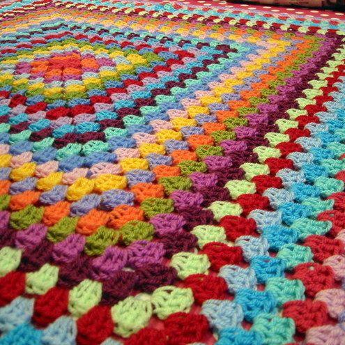 A lovely, cosy, rainbow blanket