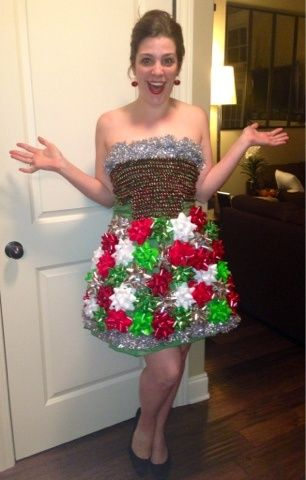 Crazy In Crafts: DIY Ugly Christmas Sweater Party Dress// so cute ...