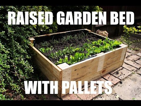 How To Make A Raised Garden Bed For Free Using Pallets Youtube