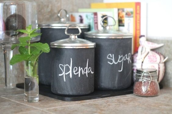 Tracking ingredients with chalkboard paint