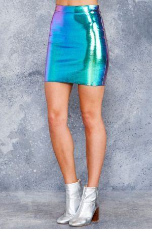 HOLOGRAPHIC DREAMS MINI SKIRT - Limited
