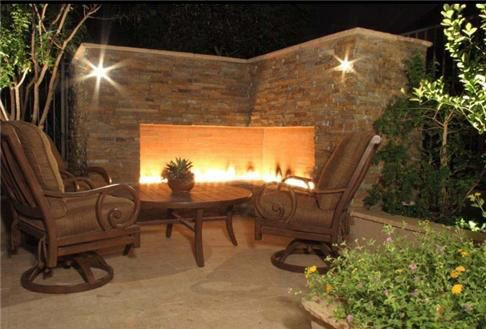 Coco's Collection:  Intimate fire pit to radiate heat on crisp nights  Callaway Landscaping
