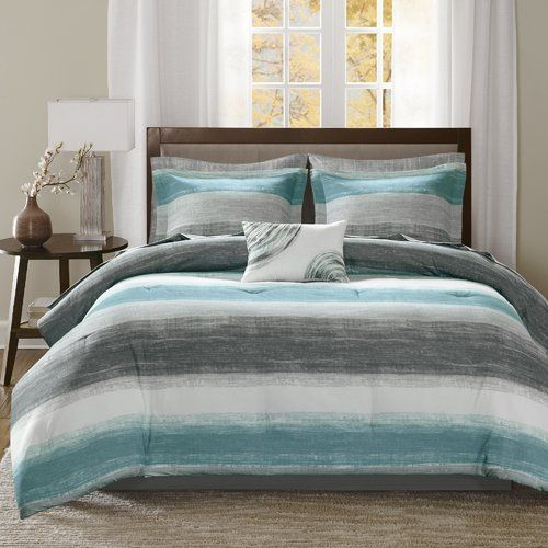 Westville Striped 7 Piece Comforter Bed In A Bag Bedroom Comforter Sets King Comforter Sets Bedding Sets