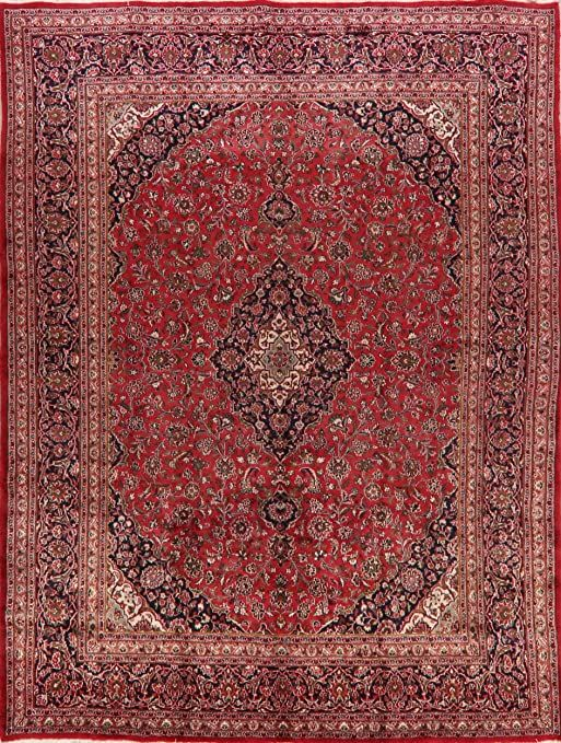 Vintage Oriental Floral Mashad Persian Red Area Rug Wool Handmade Traditional Carpet 10x13 Living Room 9 7 X 12 8 In 2020 Wool Area Rugs Red Area Rug Wool Rug