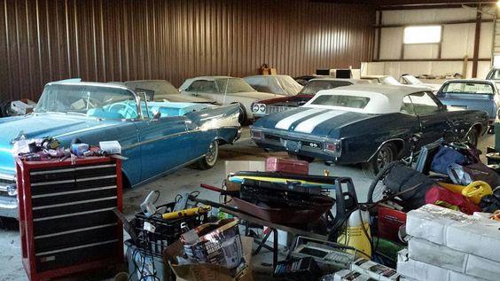 Barn Full Of Chevys: 1965 Impala SS Convertible - http://barnfinds.com/barn-full-of-chevys-1965-impala-ss-convertible/
