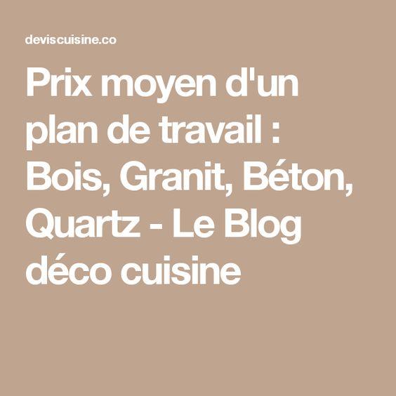Prix moyen d'un plan de travail : Bois, Granit, Béton, Quartz - Le Blog déco cuisine