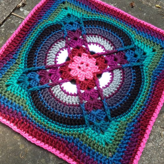 Denna Square Motif By Polly Plum - Free Crochet Pattern ...