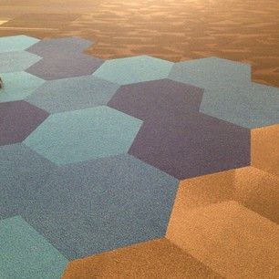 Hexagons are all the rage!  #neocon2013 #shaw #hexagon