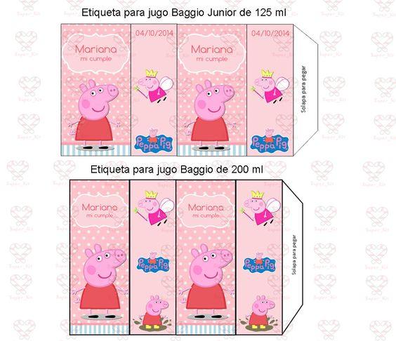 Kit Imprimible Peppa Pig Promo 2x1 Candy Bar Invitaciones - $ 32,99 en MercadoLibre