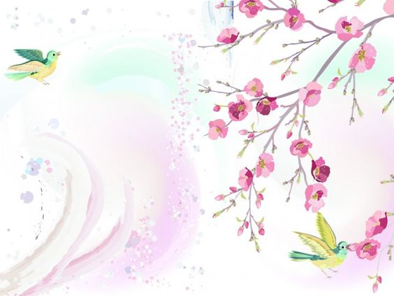 Here Is A Free Rich Collection Of Hand Painted Spring Floral