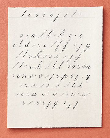 Basic Copperplate Lowercase Alphabet | Calligraphy A to Z ...