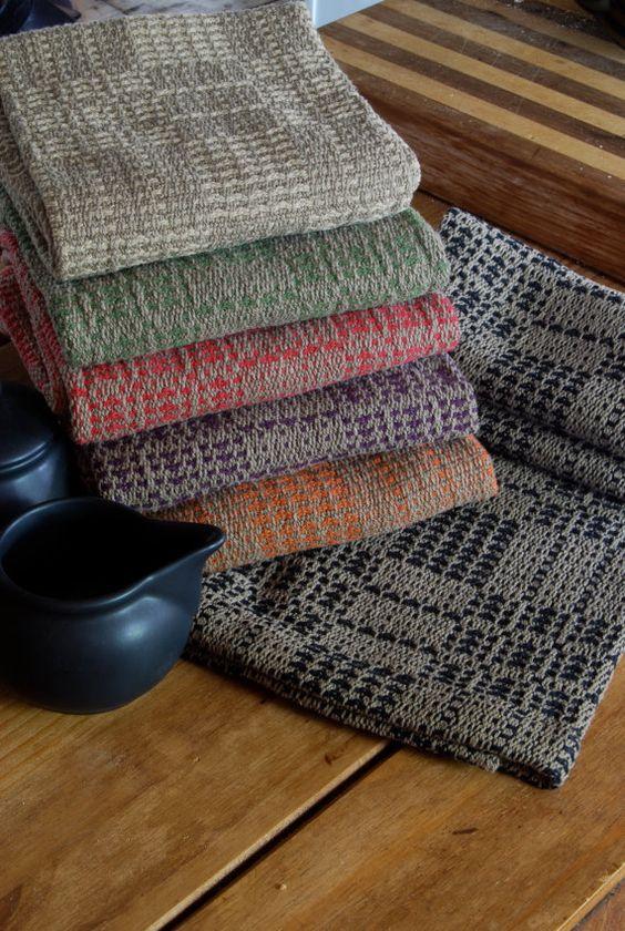 Handwoven Tea Towel Antique  Honeycomb Weave by HandwovenHome, $30.00