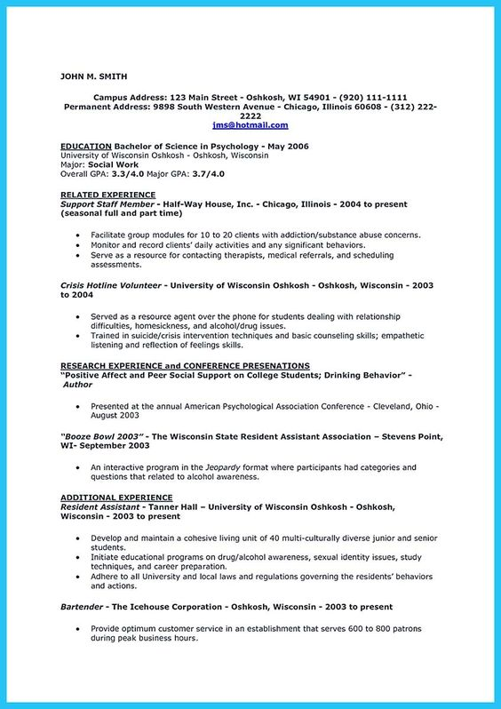 awesome Impressive Bartender Resume Sample That Brings You to a - family support specialist sample resume