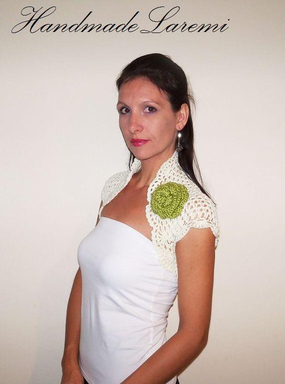 Lace WEDDING BOLERO Shrug / BRIDAL Bolero Jacket by HandmadeLaremi, $67.00