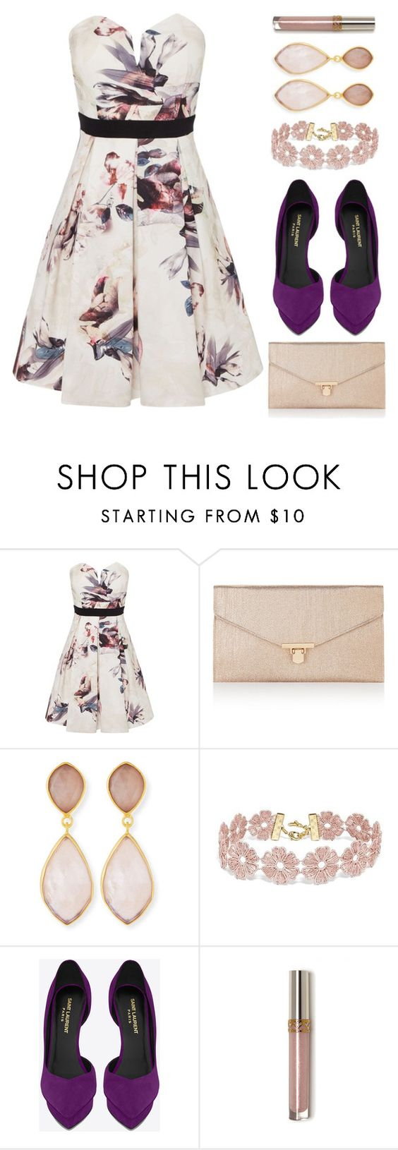 """""""Untitled #630"""" by looks-lie ❤ liked on Polyvore featuring Little Mistress, Accessorize, Dina Mackney, BaubleBar and Yves Saint Laurent"""