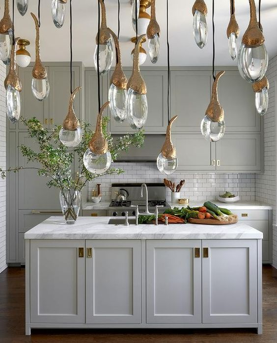 Best Exquisite Gray Kitchen Features Gray Shaker Cabinets 400 x 300