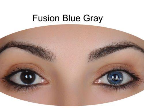 Farbige Kontaktlinsen mit Stärke blau grün braun grau violet 3 Monatslinsen SALE