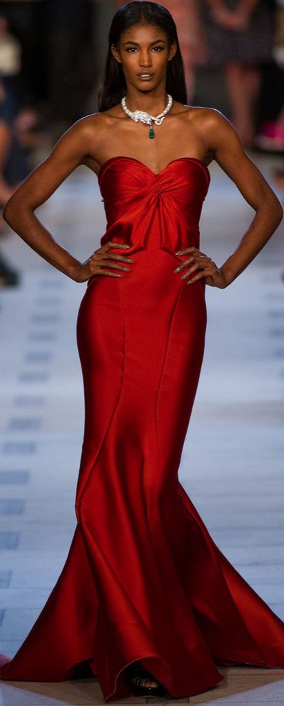 Zac Posen Spring 2013 RTW. I'm getting married in a red gown
