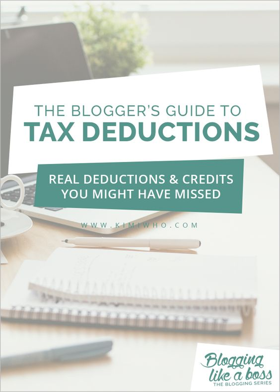 The Blogger's Guide to Tax Deductions